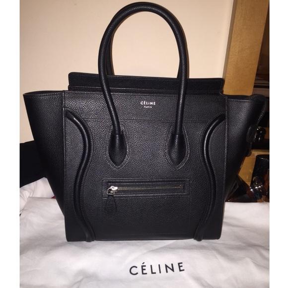 1ff4c6979e0 Celine Bags   Micro Luggage Black   Poshmark